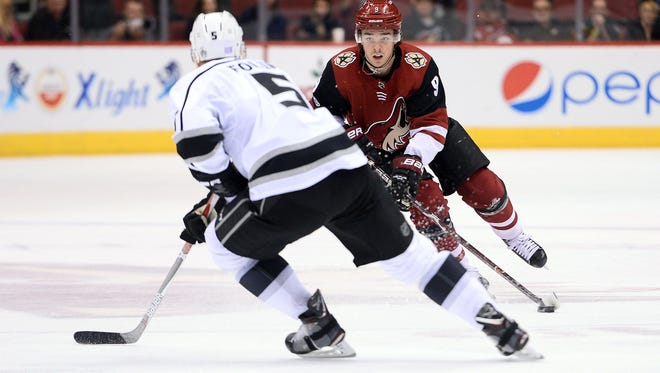 The dynamic play of Clayton Keller reminds Coyotes coach Rick Tocchet of two-time Maurice Trophy winner Steven Stamkos