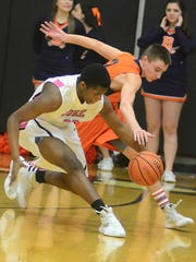 Station Camp High sophomore Jonathan Gillard outraces