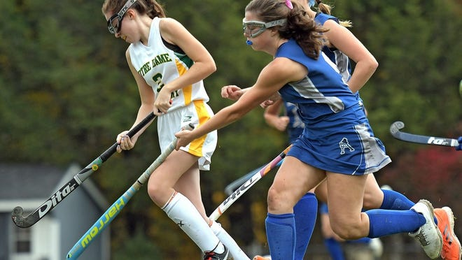 There will be more spacing between field hockey players during high school play this fall.