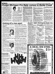 Battle Creek Sports History - Week of June 25, 1985
