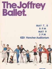 A poster advertising The Joffrey Ballet performance