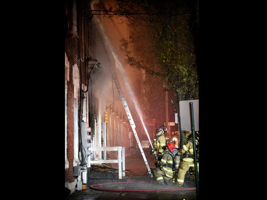 Route 72 in Lebanon was closed for several hours Tuesday night, Nov. 7, after a fire whipped through a first floor apartment at 114 S 9th St. The fire was contained to the first floor, but several upstairs apartments were damaged by smoke.