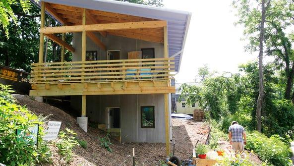 John Shore's home under construction in West Asheville