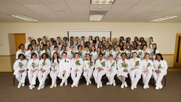 Seventy-one students received their nursing diplomas