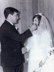 Mr. and Mrs. Mike Humphries -- 1969