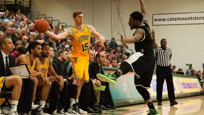 Redshirt sophomore Brendan Kilpatrick, left, has overcome an assortment of injurires to provide key minutes in the Catamounts' last two games.