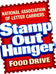 To help Stamp Out Hunger, leave nonperishable food by your mailbox to be picked up on Saturday.