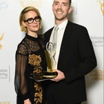 Actress Sarah Paulson presented first prize for Directing at The College Television Awards to Henry Hughes of Louisville.