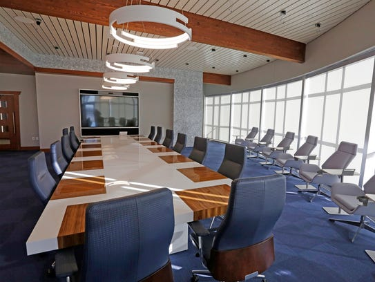 The executive office area at Johnsonville's new office