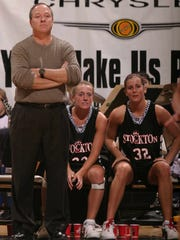 A News-Leader file photo from 2003 shows Tony Armstrong coaching the Stockton girls basketball team in the midst of a playoff run that ended with a state championship victory.