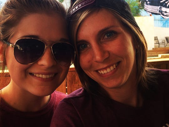 Brittany Rowell, left, and Jessica Harbuck