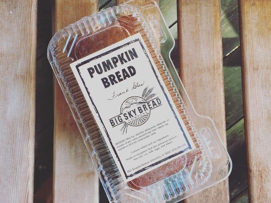 Big Sky Bread Co. Pumpkin Bread.