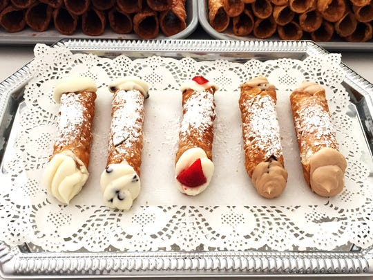 The selection of cannolis available at Sempre Cannoli in Red Bank.