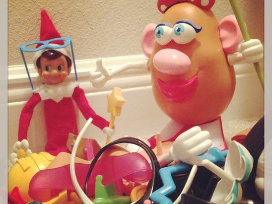 Just playing with Mr./Mrs. Potato Head.