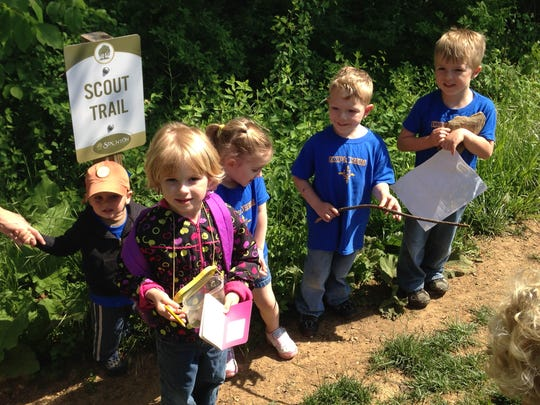 Part of Staunton Parks and Recreation's lineup of offerings is the Young Explorers Club. Here the group of children go on a hiking trip.