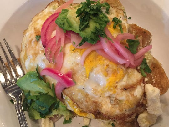 Chilaquiles verde is served at Traders Point Creamery's
