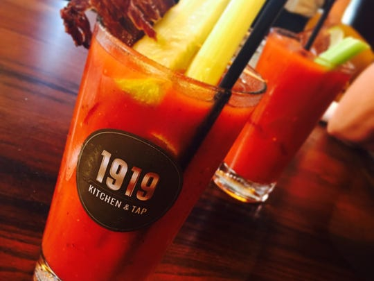 Enjoy a delicious Bloody Mary with house-made bitters at 1919 Kitchen & Tap in the Lambeau Field Atrium.