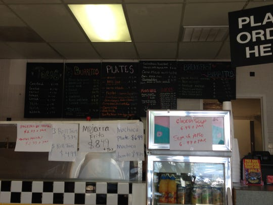 The menu at Prowess Cafe presents a wide variety of homemade Mexican food at a reasonable price.
