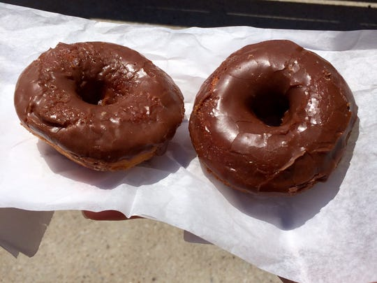 The chocolate glazed pumpkin and vegan chocolate glazed