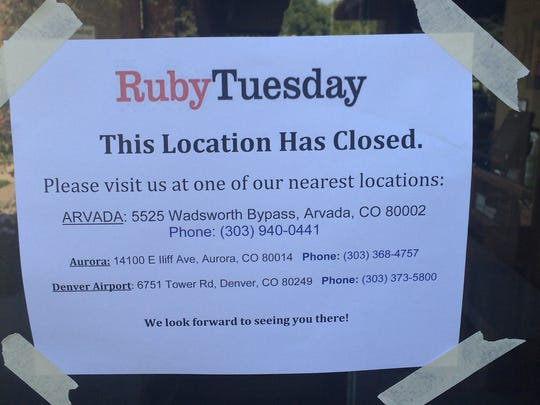 The sign on the former Fort Collins Ruby Tuesday location.