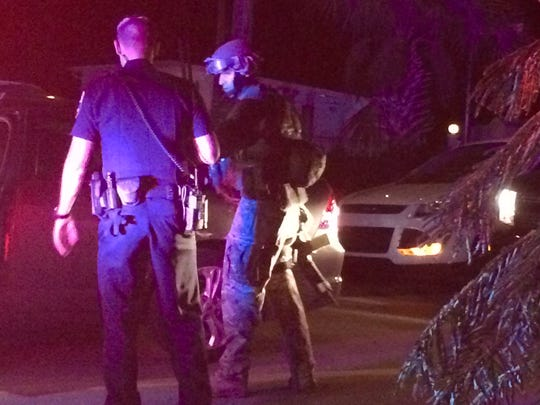 SWAT responds to a domestic disturbance in the Lake Park community on Wednesday, Sept. 21, 2016.