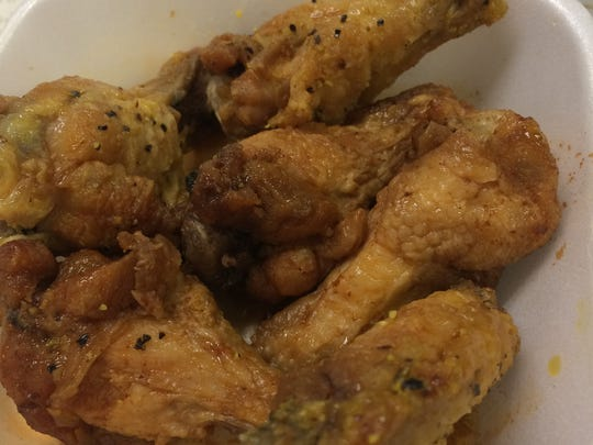 Lemon pepper wings from the Wingbasket.