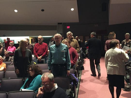 Williston residents stand to be counted in a vote to decide whether the town passed a resolution supporting a requirement for presidential candidates to release their taxes.