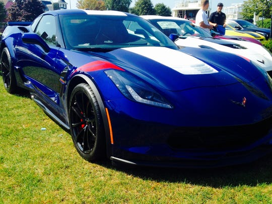 Corvettes on display in Heritage Park.