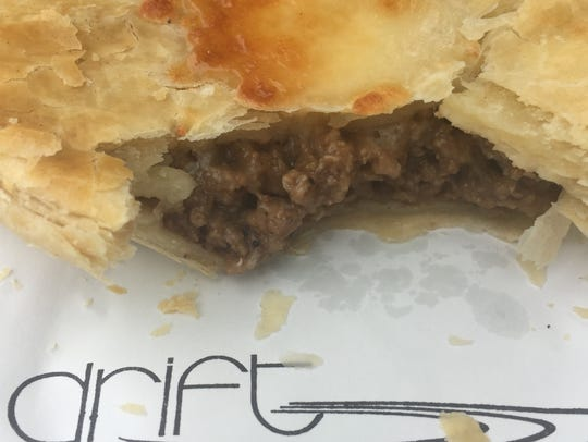 A warm mince pie from Drift, a food truck serving a