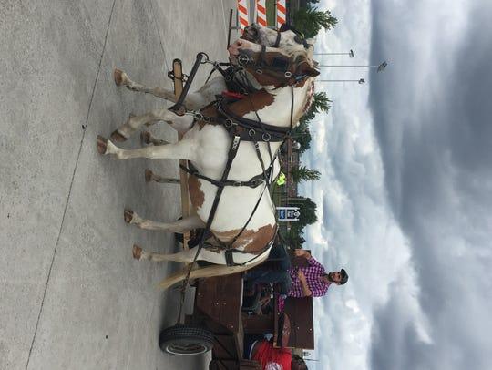 The St. Clair County Farm Museum had a horse-drawn