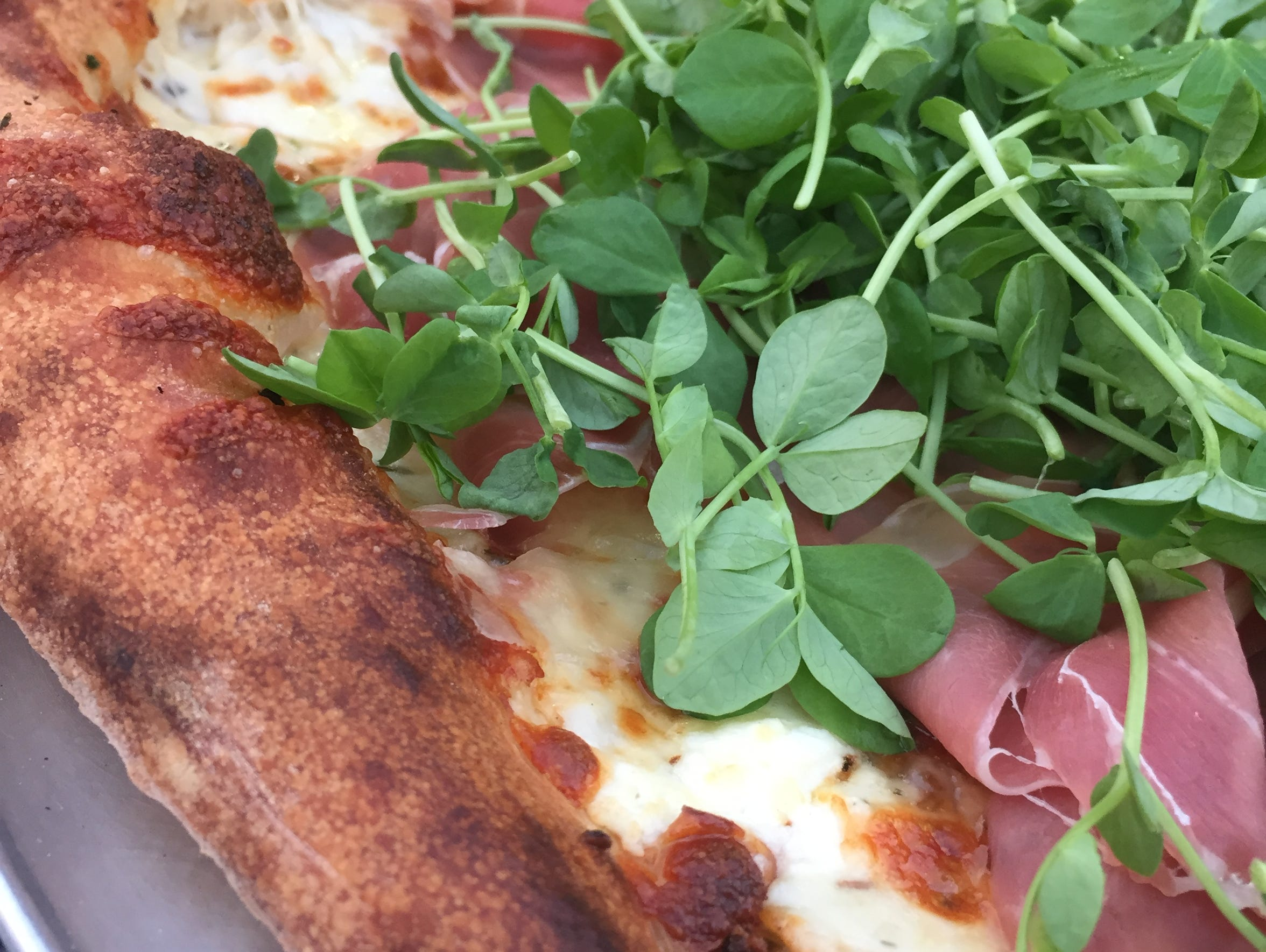 The Deschiutto is a seasonal pizza at Wy'east, 5601