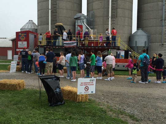 2015 Participants visiting the Grain Bin Safety Demonstration.