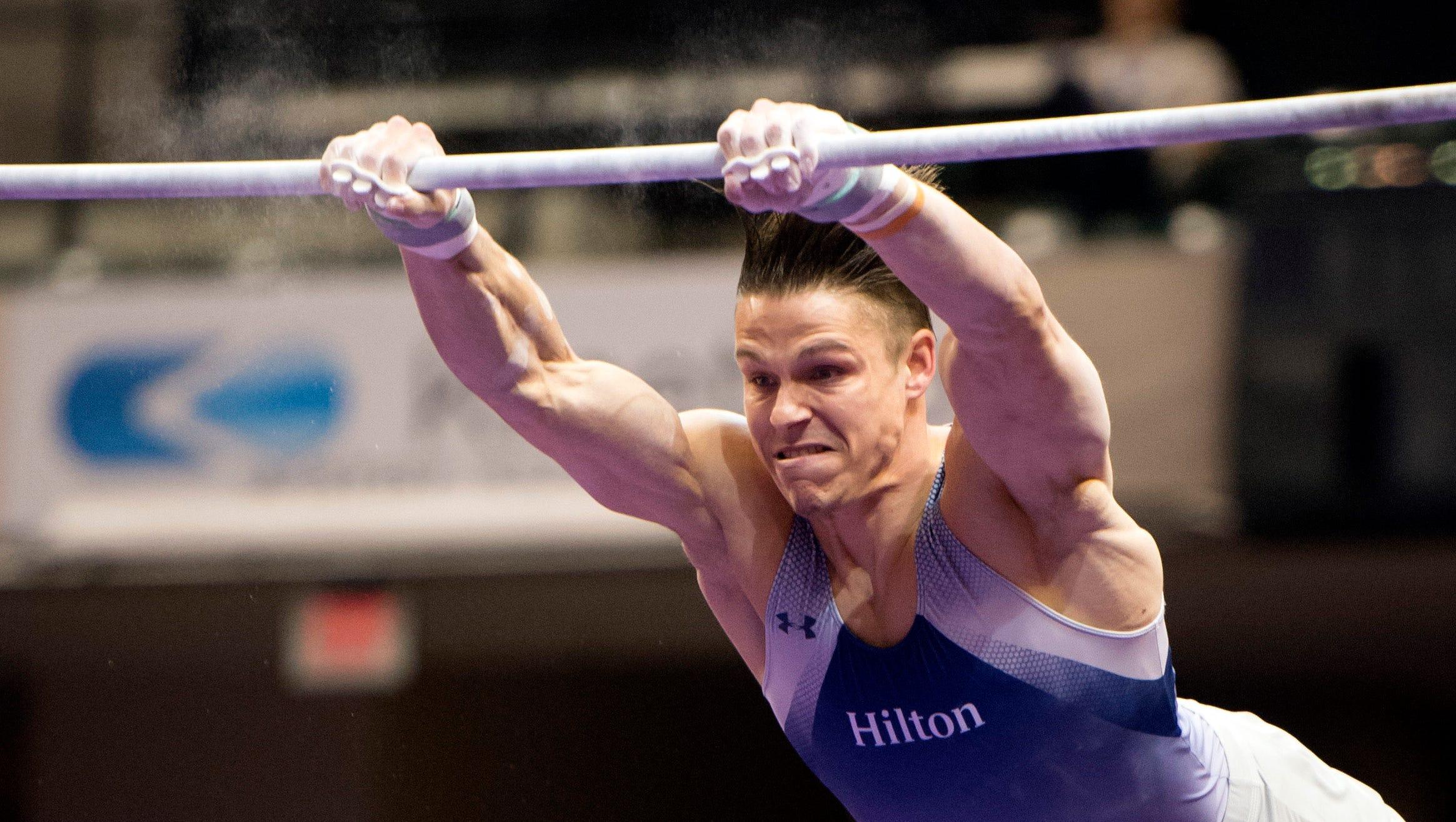 U.S. gymnast Chris Brooks keeps promise to father who died