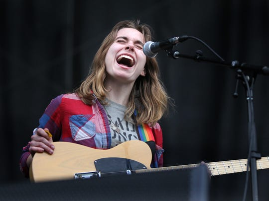 Julien Baker performing at the 2016 Beale Street Music Festival