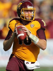Cooper Rush on the field for Central Michigan University