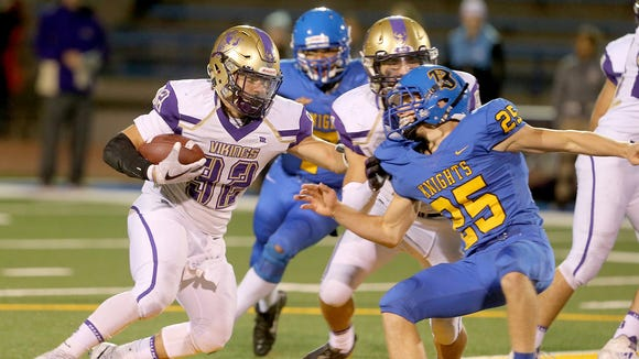 North Kitsap running back Dax Solis and the Vikings are coming off a 33-7 win over Bremerton in Week 6.