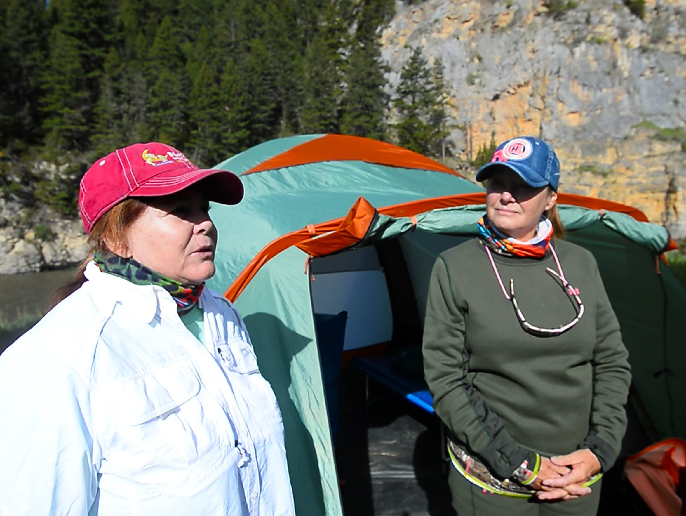 Lisa Kay Epstein, left, and Ronda Mills, friends from