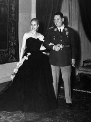 Eva Peron and her husband Gen. Juan Peron pose in Buenos Aires, Argentina in this undated photo. Eva Peron died at age 33 from a cervical cancer in 1952.