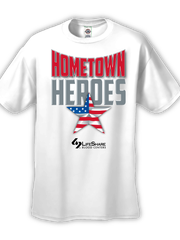 People who donate blood Friday evening to support the victims of the Lafayette theater shooting will receive this T-shirt.