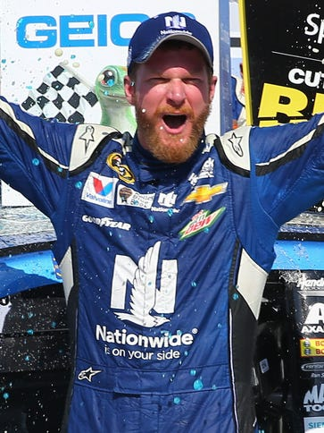 Dale Earnhardt Jr. won for the sixth time at Talladega