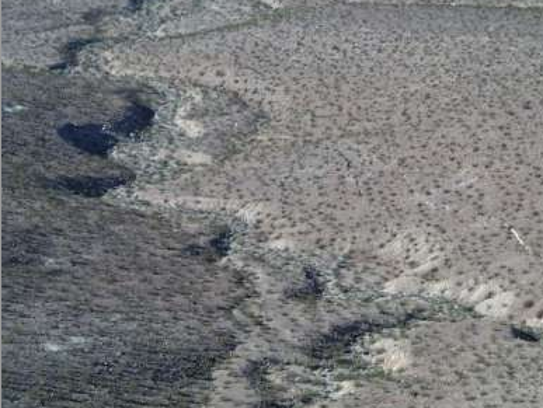 Aerial Photo of the Surface Rupture following Hector