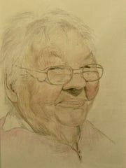 """Margaret,"" pencil portrait by Cliff Darken, part of"