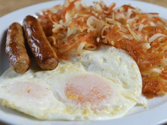 To celebrate its 60th anniversary, Gold 'N Silver Inn is offering, from June 20-22, three beverages and three dishes at 1950s prices, including this eggs, sausage and hash browns breakfast for 95 cents.