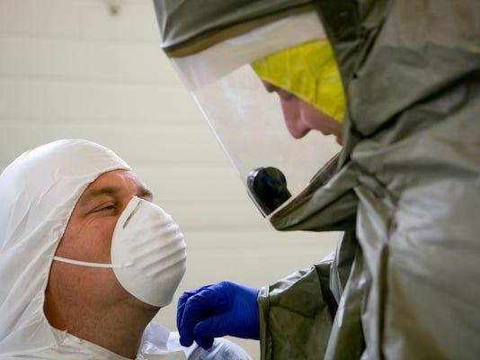 MNH Hospital Ebola Drill 05.JPG