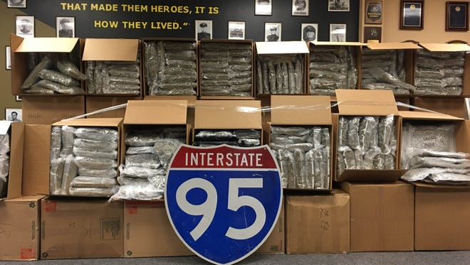 Maryland State Police confiscated more than 900 pounds on Monday night.