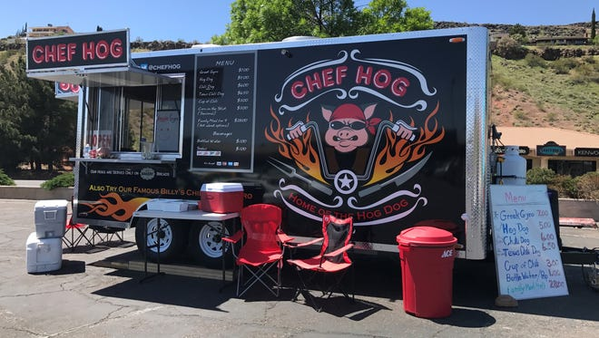 The Chef Hog food truck can typically be found at Hurst Ace Hardware at the corner of Bluff Street and St. George Boulevard in St. George.
