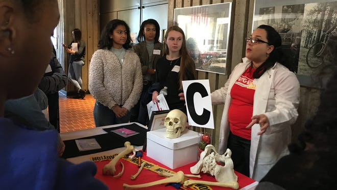 Rutgers University hosted one of the first, and the largest, Young Women in Bio events at the medical school. High school girls from 18 New Jersey schools attended to learn about career options for women in biomedical sciences.