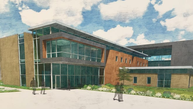 A rendering of the proposed STEM Innovation Center that Brown County, UW-Green Bay and the state plan to jointly fund. The building will house the newly-named Richard J. Resch School of Engineering.