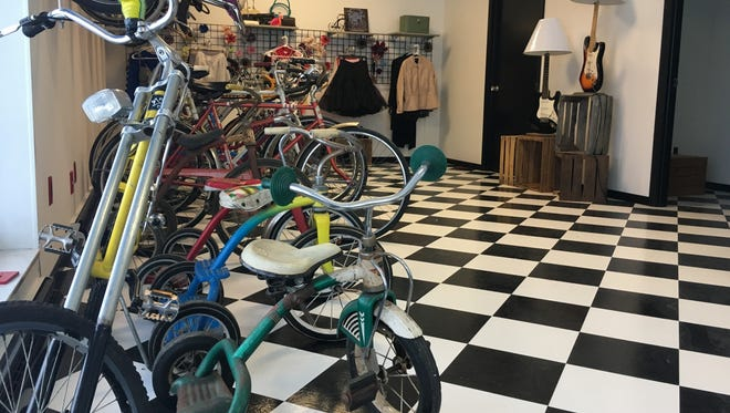 Old Skool Bicycle Shop, 1250 Bellevue St., has everything from vintage trikes to vintage pin-up clothing for sale.