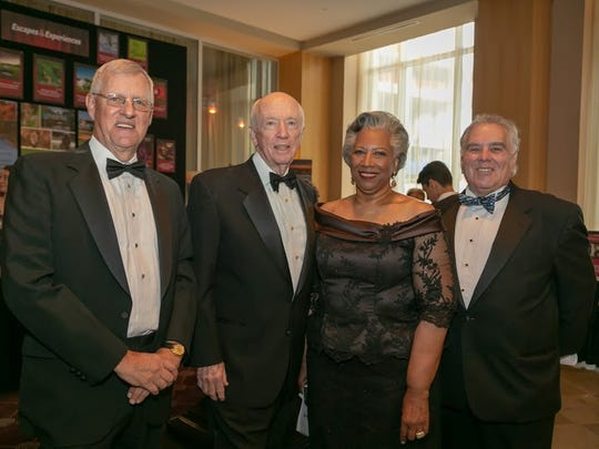 (Left to right) George Street Playhouse Board Chair James N. Heston; Robert Campbell; GSP Board President Penelope Lattimer, Ph.D.; and GSP Gala Committee Chair Kenneth M. Fisher Jr. at the 2018 George Street Playhouse Annual Gala Benefit held May 6,at the Heldrich in New Brunswick.